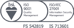 ISO9001 27001 Accreditation