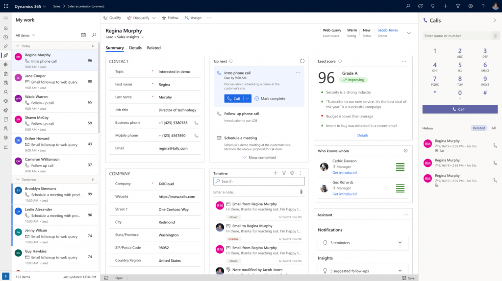 Dynamics 365 Dashboard (sales)