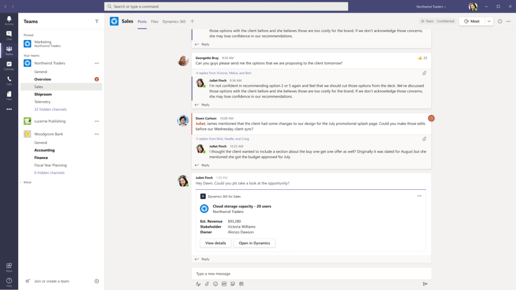 Dynamics 365 Microsoft Teams
