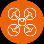 SurveyorTech aerial icon - orange