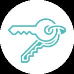 surveyortech estate agents icon - white