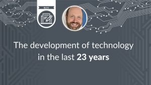 The development of technology in the last 23 years - blog cover