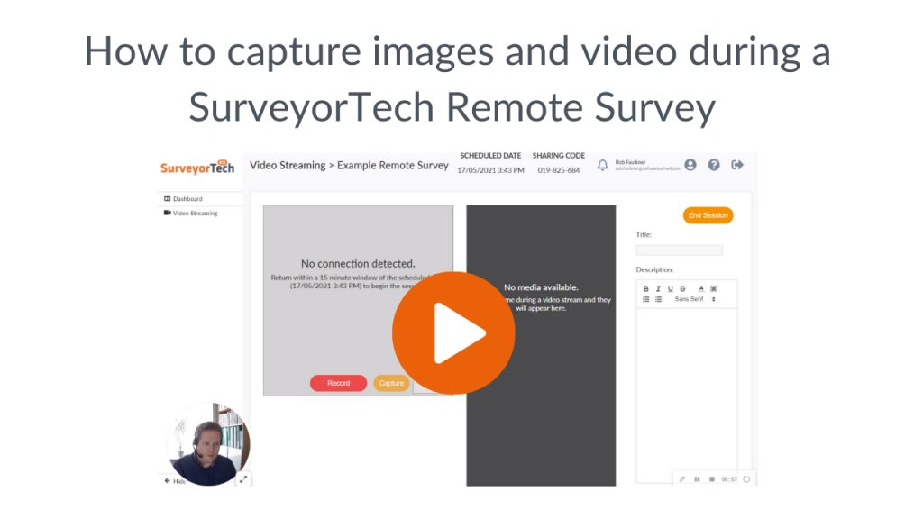 SurveyorTech -how to capture images and video