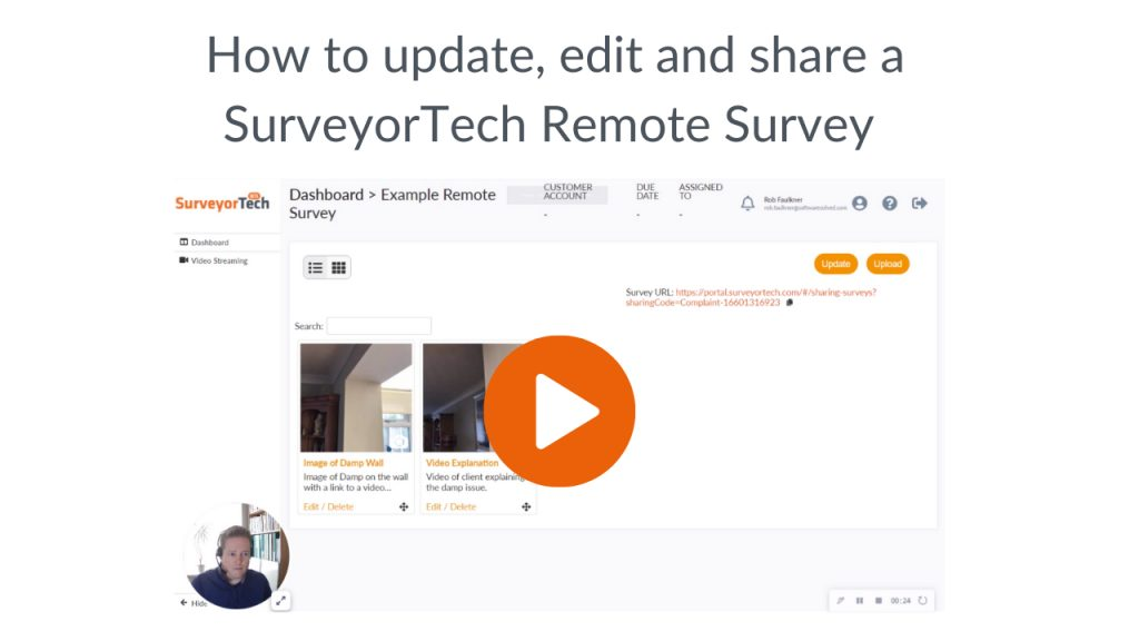 SurveyorTech, how to edit and share a survey
