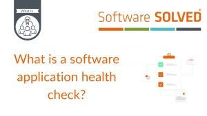 What is a software application health check